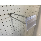 225mm Display Hook plus Clear Flip Scan Holder - 3kg load limit