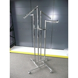 Freestanding Chrome Clothes Racks - on castors